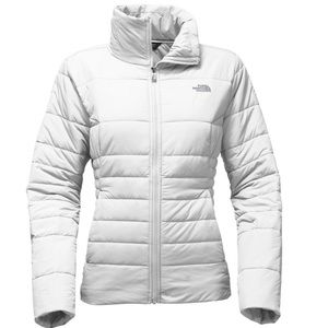 The North Fave white puffer jacket Size small